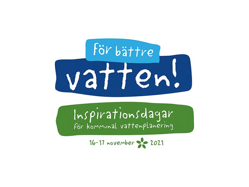 En logotyp för konferensen För bättre vatten.
